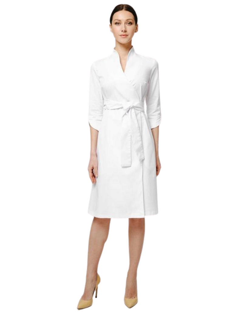 Treat in Style | Swan Lab Coat - White