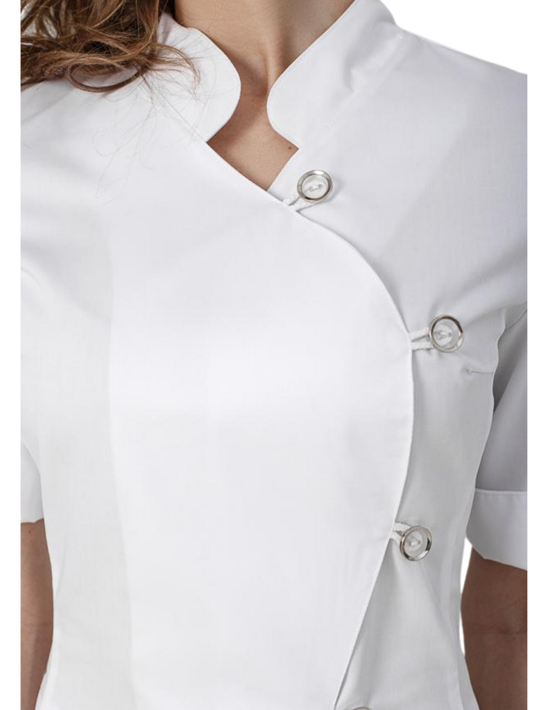 Treat in Style | Asymmetric Collar Top - White