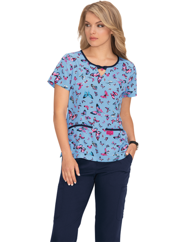 Koi | Rose Top - Bright Butterflies