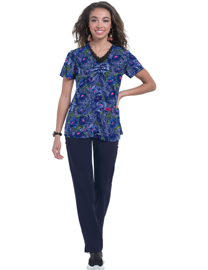 Koi | Camellia Top - Jungle Floral