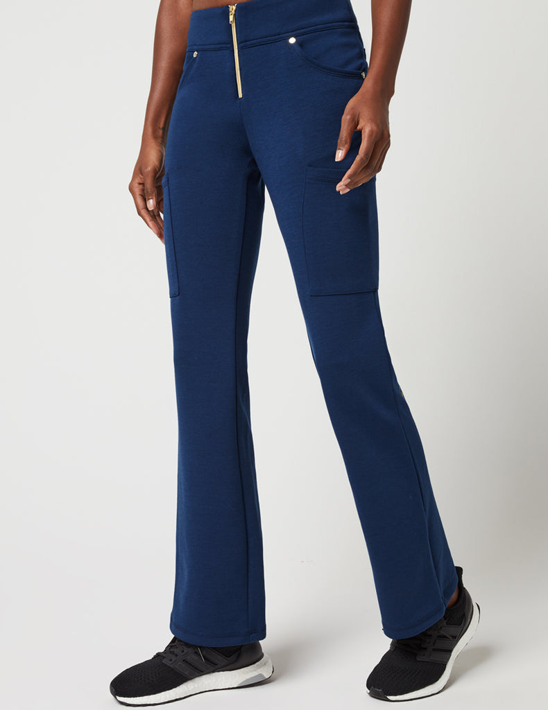 Zip Front Pant - Estate Navy Blue