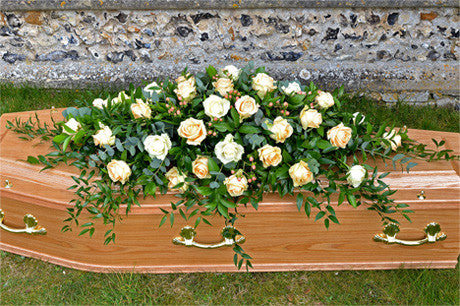 Blenheim -Rose and berry coffin spray