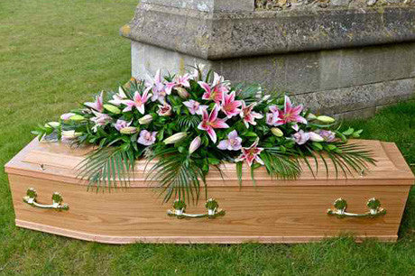Warwick - Large Lily and orchid coffin spray