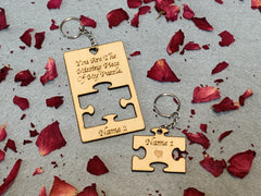 Missing Puzzle Piece Key Ring.