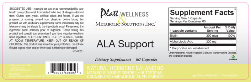 ALA Support (Powerful Antioxidant)