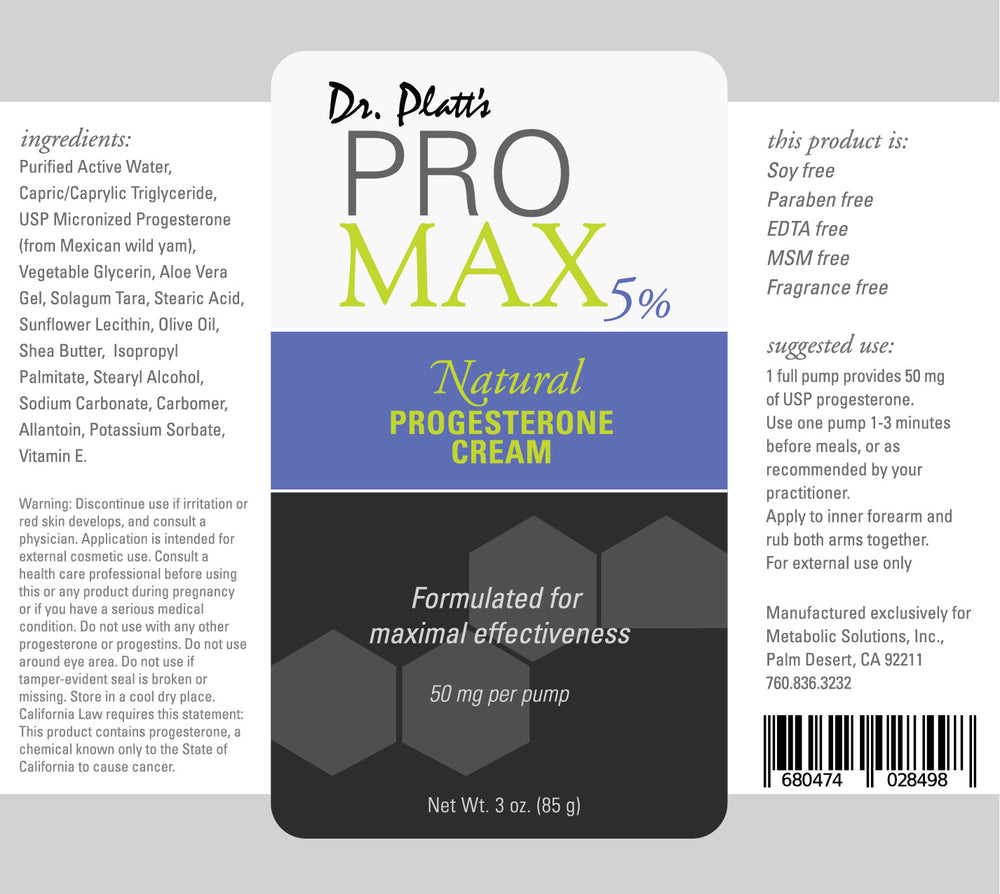 Dr. Platt's PRO MAX 5% Progesterone Cream Bundle (essential oil free) - (Bioidentical) (6 Bottles - 10% Off)