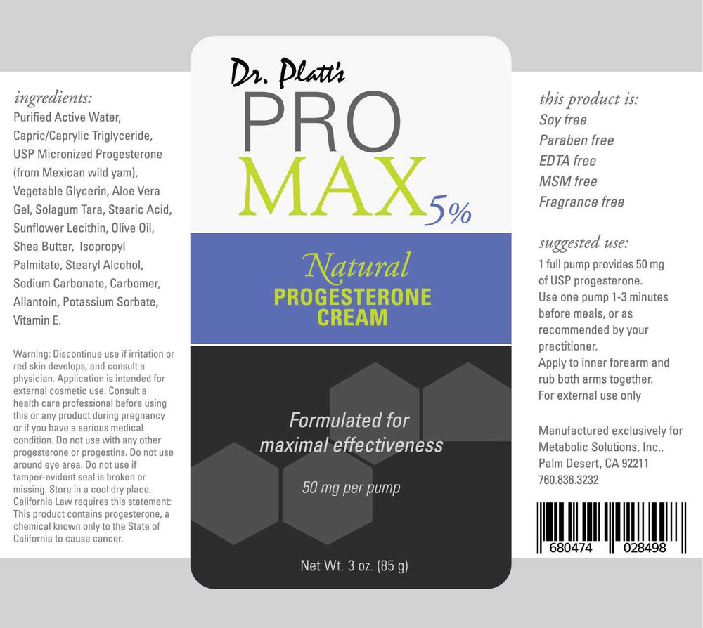 Buy 2 PRO MAX Progesterone Cream Platt + Get One Mini Progesterone FREE