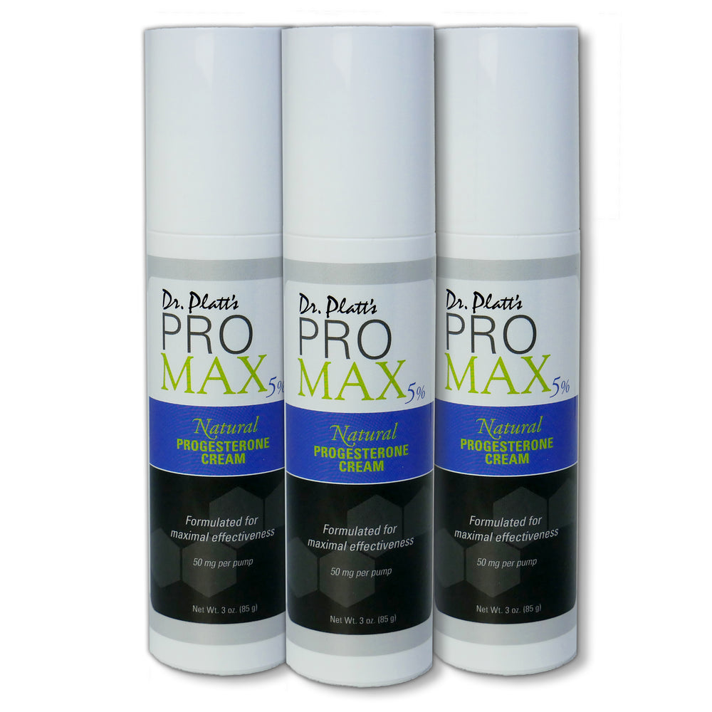 Dr. Platt's PRO MAX 5% Progesterone Cream Bundle ( Bioidentical) 3 Bottles-5% Off