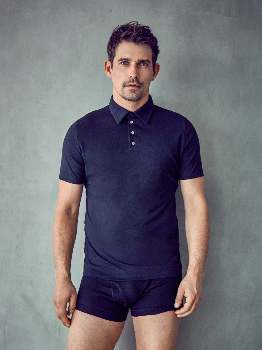 BLACK ORGANIC COTTON POLO