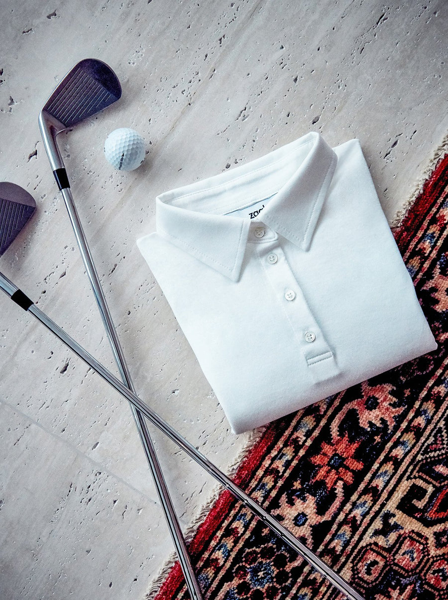 WHITE ORGANIC COTTON POLO