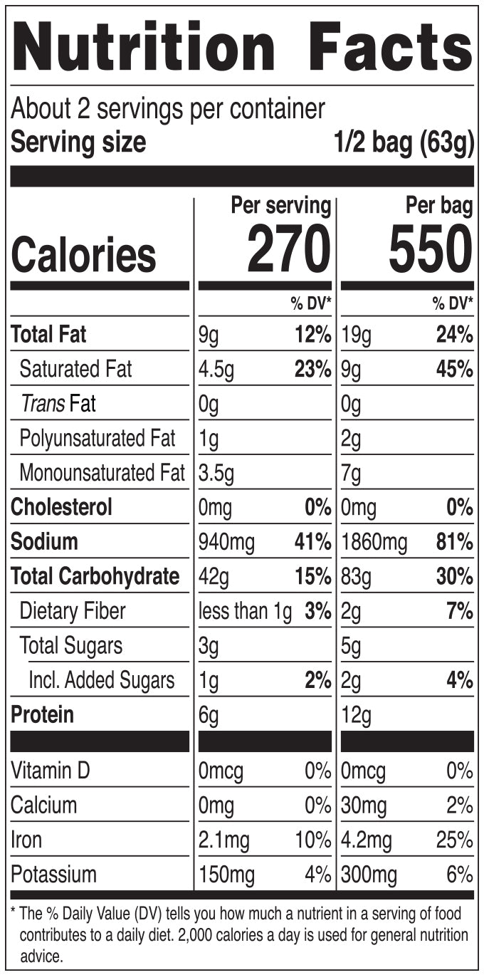 Nongshim Ansungtangmyun Nutrition Facts