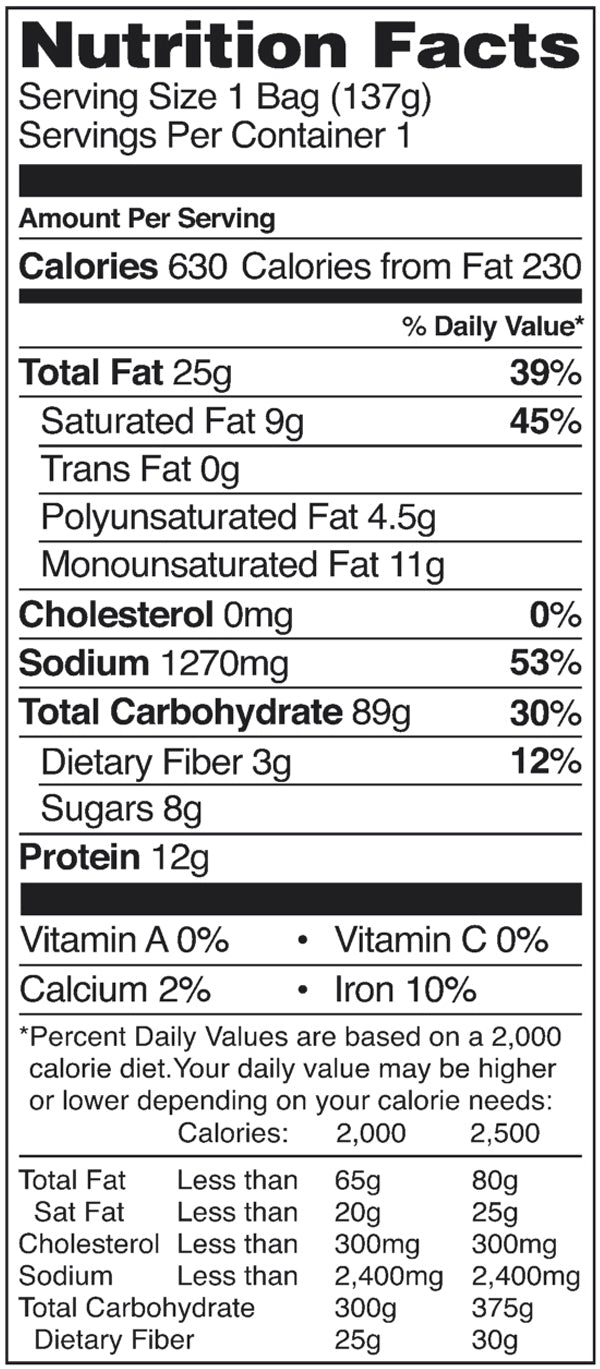 Nongshim Spicy Seafood Neoguri Noodle Nutrition Facts