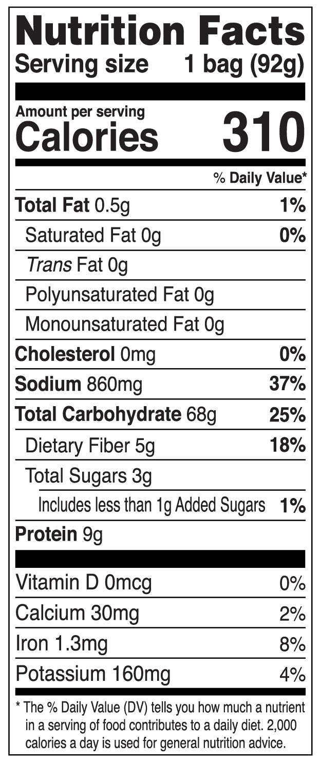 Nongshim Soo Air Dried Noodle Soup Nutrition Facts