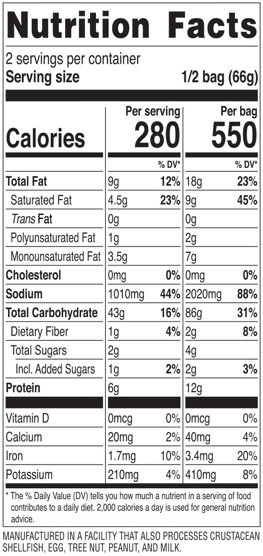 Nongshim K-Army Stew Noodle Soup Nutrition Facts