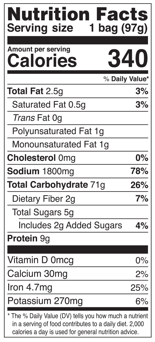 Nongshim Shin Light Air Dried Noodle Soup Nutrition Facts