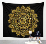 Printed home tapestry black and white with wall hanging beach towel beach blanket