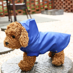 SOO JOO Waterproof Hooded Pet Raincoat