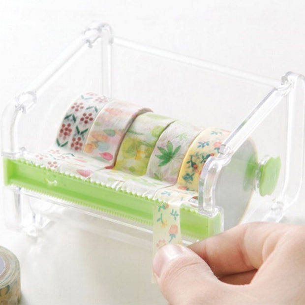 SOO JOO Desktop Tape Dispenser with Organizer
