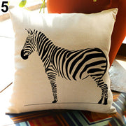 Throw Pillow Case Sofa Waist Cushion Cover Zebra Print Pillowcase Home Decor - Westfairy.com