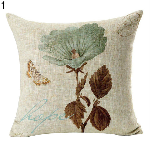 Vintage Flower Style Pillow Case Bed Sofa Square Throw Cushion Cover Home Decor - West Fairy