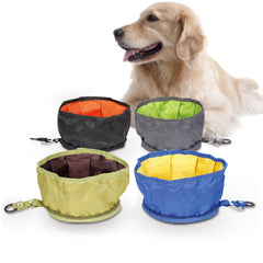 SOO JOO Outdoor Foldable Pet Food Bowl