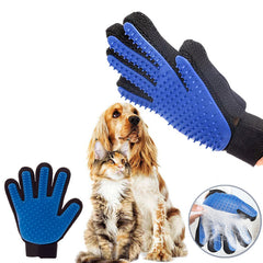 SOO JOO Pet Hair Brush Massage Finger Grooming Glove