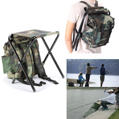 G-Man Camouflage Camping Backpack Folding Chair