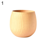 SOO JOO 200-300ml Big Belly Wooden Tea Cup