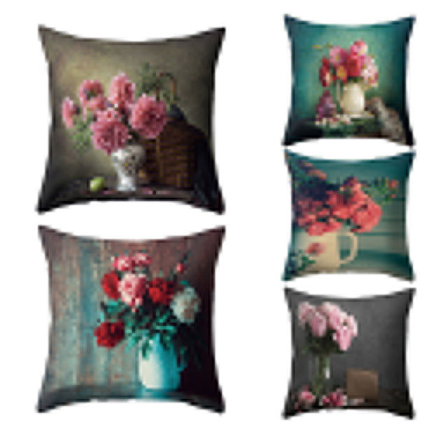 Super Soft Flowers in Vase Cushion Cover Home Office Decorative Pillow Case - Westfairy.com