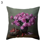 Super Soft Flowers in Vase Cushion Cover Home Office Decorative Pillow Case - West Fairy