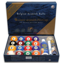 Aramith Super Pro-Cup Pool Ball Set Value Pack