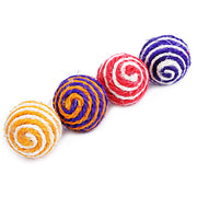 Cat Pet Sisal Rope Woven Ball Teaser Play Chewing Rattle Scratch Catch Toy