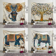 Indian Elephant x Tree of Hope Wall Hanging Tapestry - West Fairy