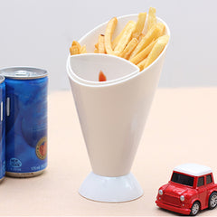 SOO JOO Fries Chips Snack Cone DIP + DIG Stand Holder