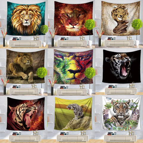 African Wildlife Wall Hanging Tapestry - West Fairy