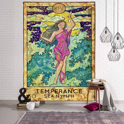 Ancient Witchcraft Tarot Wall Hanging Tapestry - West Fairy