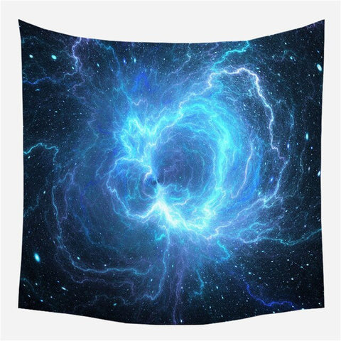 Starry Big Bang Sky Galaxy Wall Hanging Tapestry - West Fairy