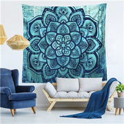 Mandala Floral Elephant Wall Hanging Tapestry - West Fairy
