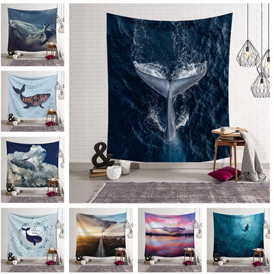 Sea Life Dolphin Wall Hanging Tapestry - West Fairy