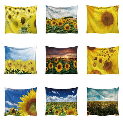 Sunflower Scenery Wall Hanging Tapestry - West Fairy