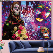Lesi Devil de Skull Wall Hanging Tapestry - West Fairy