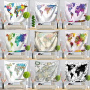 Mordi World Map Wall Hanging Tapestry - West Fairy