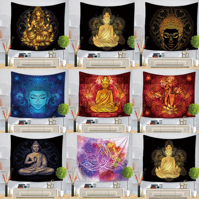 ZEN Buddha Statue Wall Hanging Tapestry - West Fairy