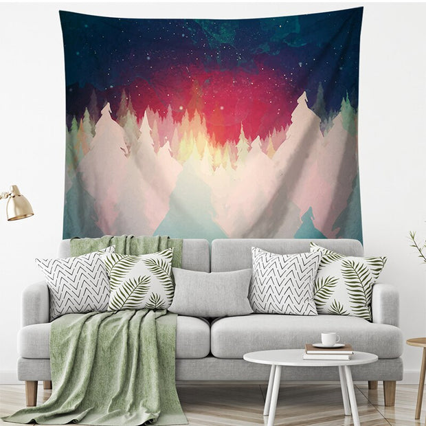 Detok City Forest Wall Hanging Tapestry - Westfairy.com