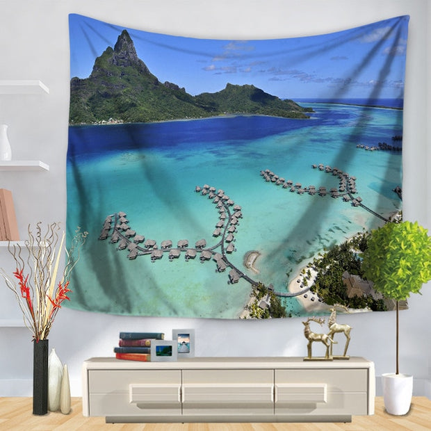 Natural Forest Scenery Wall Hanging Tapestry - Westfairy.com