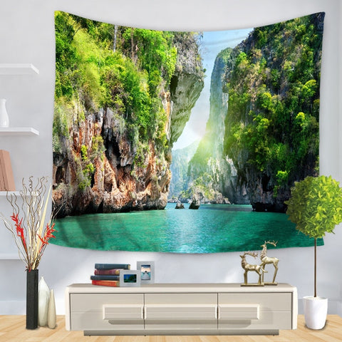 Natural Forest Scenery Wall Hanging Tapestry - West Fairy