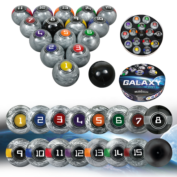 McDermott Galaxy Pool Ball Set