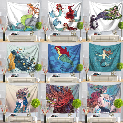 Yurisa Mermaid Wall Hanging Tapestry - West Fairy