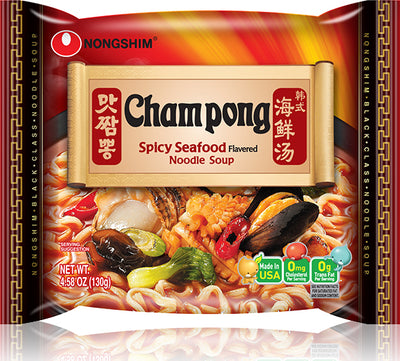 Nongshim Spicy Seafood Champong Noodle Soup Pack 130g - Westfairy.com