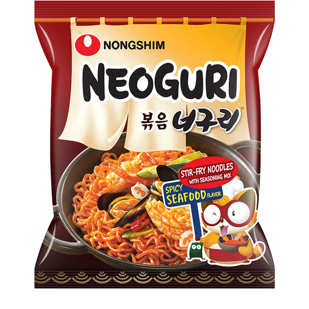 Nongshim Spicy Seafood Stir-Fry Neoguri Noodle Pack 120g